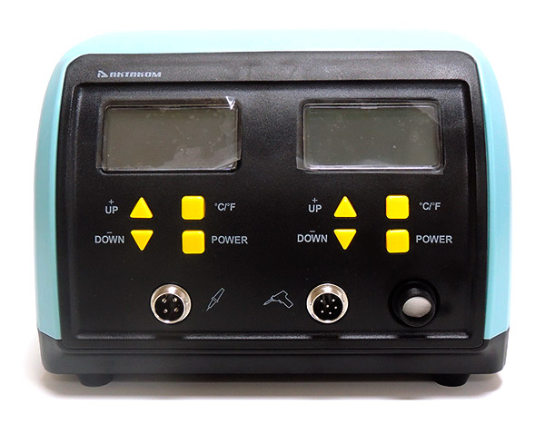 AKTAKOM ASE-3107 Temperature Controlled Soldering & Desoldering Station - Front panel