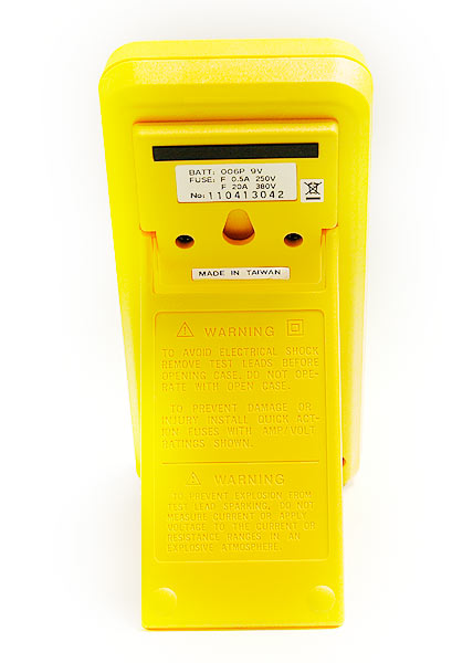 TES TES-2712 Digital LCR Multimeter - rear view