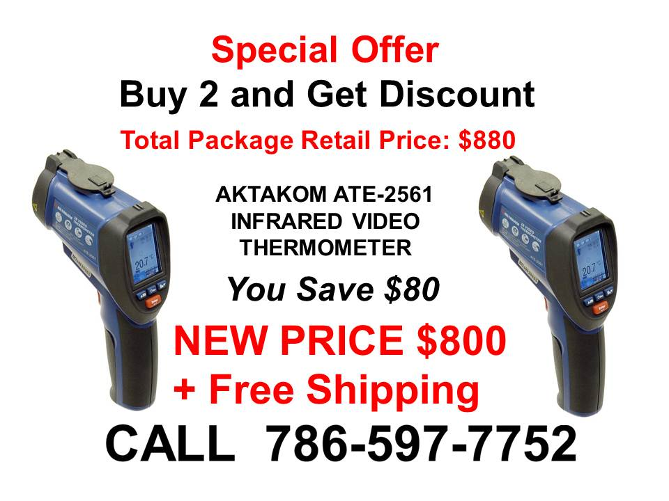AKTAKOM ATE-2561 Infrared Video Thermometer - Special Offer