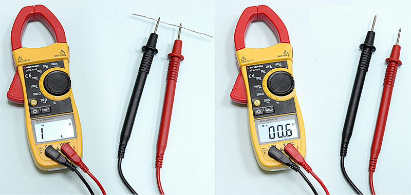 AKTAKOM ACM-1010 1000 A AC Clamp Meter & Thermometer (K-type) - Continuity Check