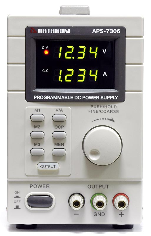 AKTAKOM APS-7306 DC Programmable Power Supply - front view