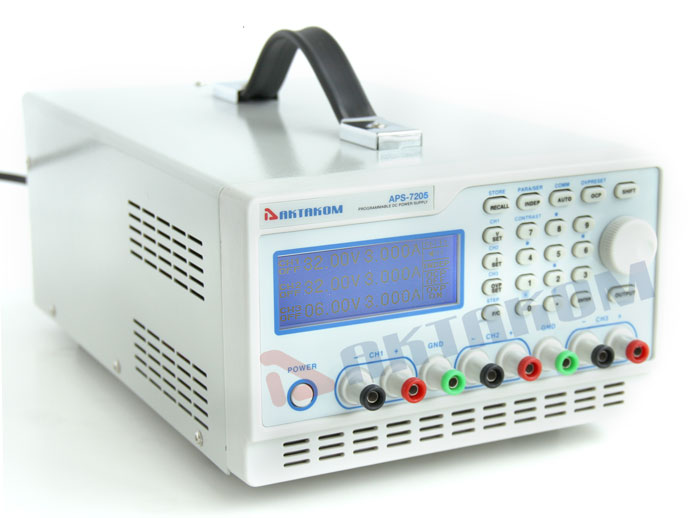 AKTAKOM APS-7205 DC Remote Controlled Power Supply 158W 32V / 5A 3 Channels programmable