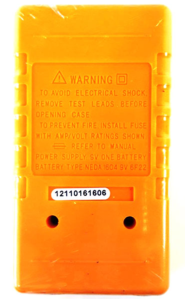 DT830B Digital Multimeter - rear view