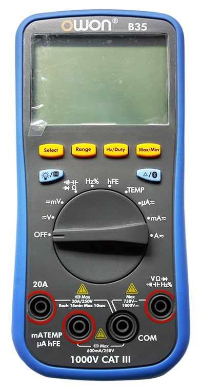 OWON B35 Digital Multimeter with Bluetooth