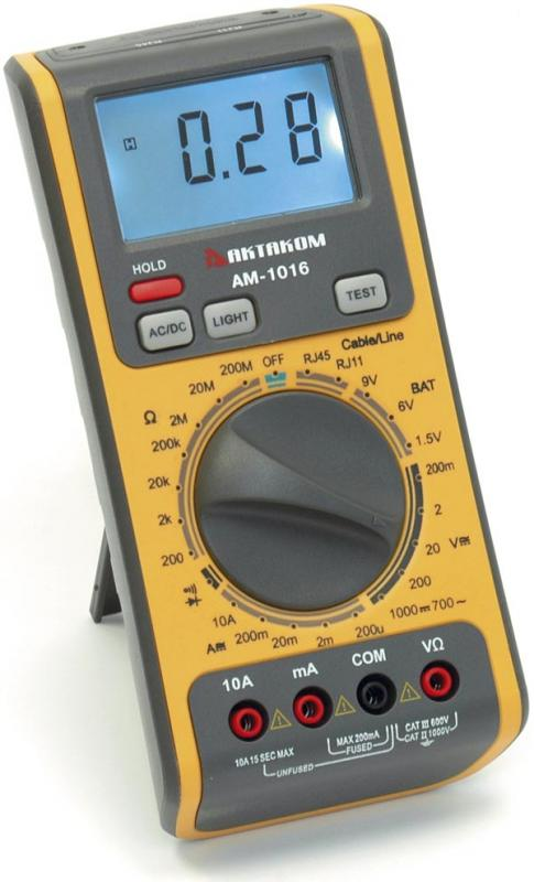 The Essential IT (AA9) - Aktakom AM-1016 Network Multimeter for Testing LAN Cables & Phone Lines