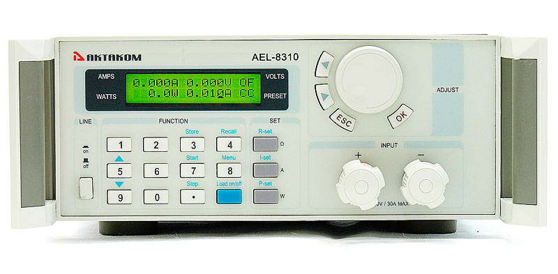 AKTAKOM AEL-8310 Programmable Electronic Load - front view