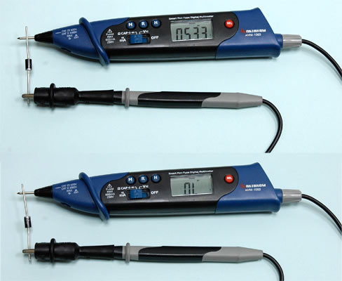 AKTAKOM AMM-1063 Smart Pen-type Digital Multimeter for IT - Diode Test