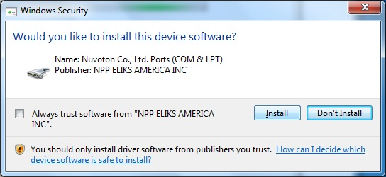 AKTAKOM APS-7315_SDK Software Development Kit - Installing driver software - step 5