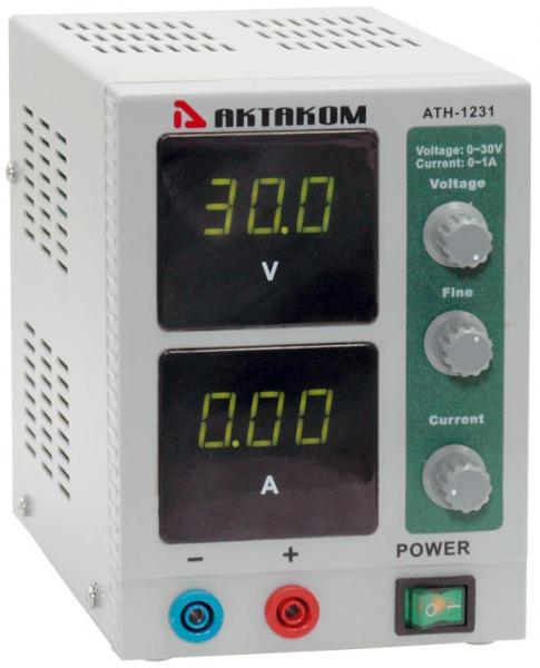 AKTAKOM ATH-1231 DC Power Supply 30V / 1A, 1 channel