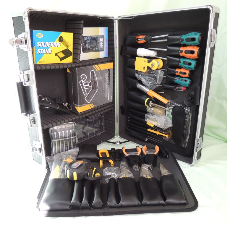AKTAKOM AHT-5066 76 PIECE Professional Electronic Technician's Tool Kit - full set