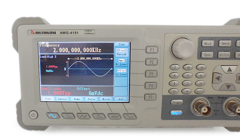 AKTAKOM AWG-4151 Function/Arbitrary Waveform Generator 150MHz 1CH 2Mpts - front panel