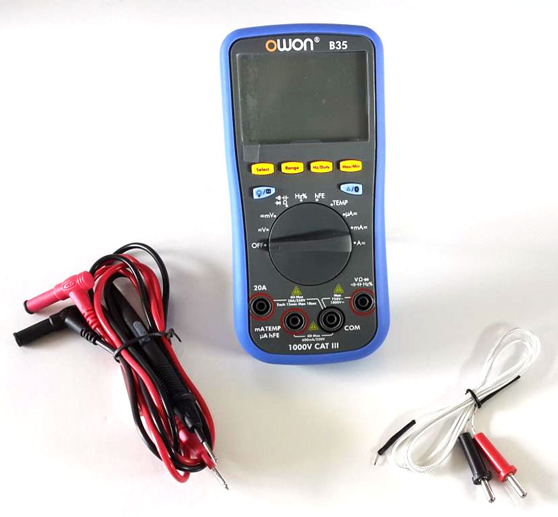 OWON B35 Digital Multimeter with Bluetooth - with accessories