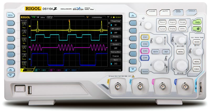 RIGOL DS1074Z 70 MHz Digital Oscilloscope - Front view