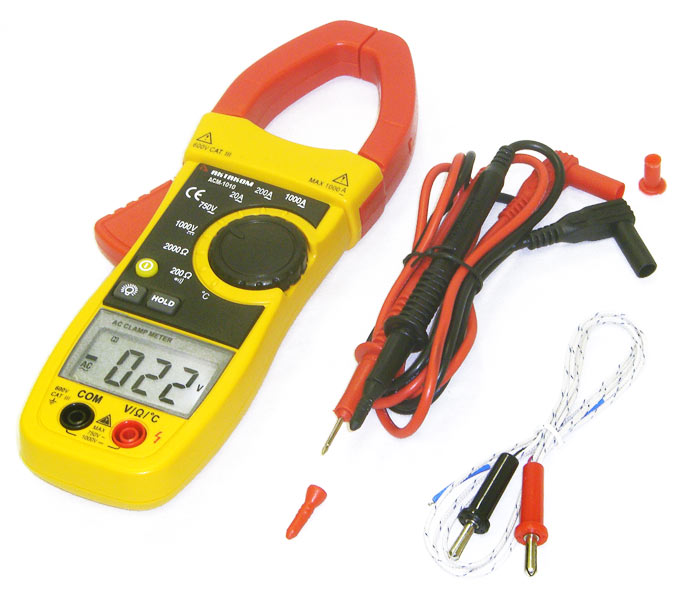 AKTAKOM ACM-1010 1000 A AC Clamp Meter & Thermometer (K-type) - with accessories