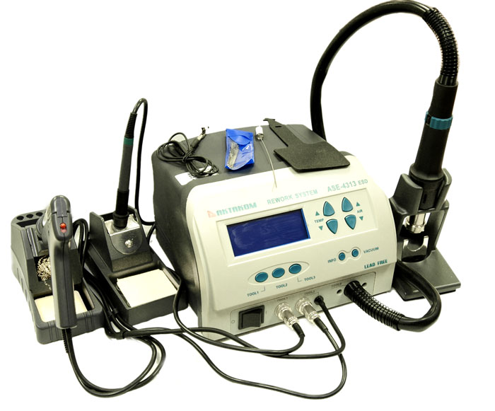 AKTAKOM ASE-4313 ESD-Safe Temperature Controlled Digital Soldering and SMD Rework Station