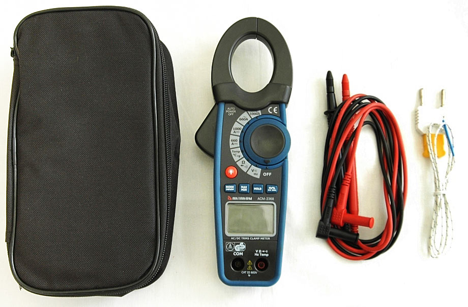 AKTAKOM ACM-2368 1000 A AC/DC Clamp Meter. True RMS + Inrush + Pulse and Temperature measurements - Accessories