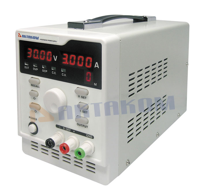 AKTAKOM APS-7303 DC Power Supply 90W 30V / 3A 1 channel programmable