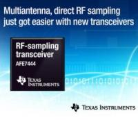 Industry's first integrated quad- and dual-channel RF-sampling transceivers enable multiantenna wideband systems