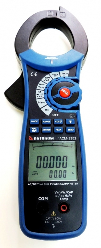 AKTAKOM ACM-2352 Clamp & Watt Meter. True RMS