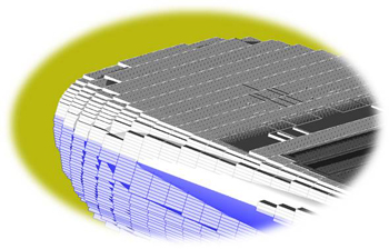 Traditional FDTD rectangular mesh cells cannot accurately represent curved surfaces without greatly increasing the number of cells in the mesh